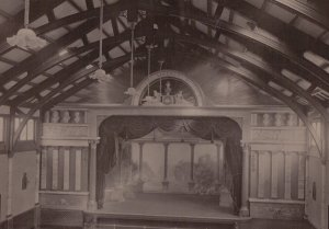 The Good Old Days: How the stage used to look at Stanley Halls around a hundred years ago, from a picture discovered in the venue's archive