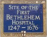 Bethlem blue plaque