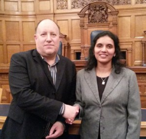 Tony Newman, the leader of the Labour group at Croydon Town Hall, and their nomination for Mayor, Manju Shahul Hameed