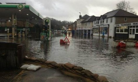 Further down the A22 at Whyteleafe, the road has been impassable through flooding for more than a week