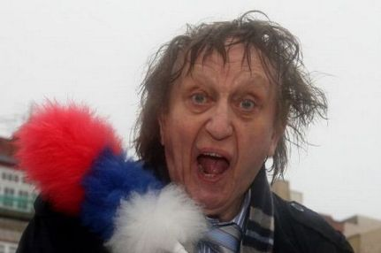 Prepare to be tickled: Ken Dodd and his tickling stick. Oooo, missus