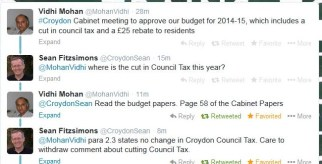 The Twitter exchange in which Vidhi Mohan lied publicly about a Council Tax cut in Croydon in 2014