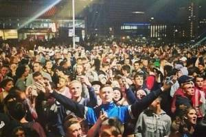The scene in East Croydon at the illegal rave last weekend: the council's message was ill-judged and tragically wrong
