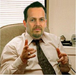 Council CEO David Brent: any resemblance to Nathan Elvery is entirely coincidental
