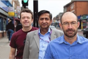 From left to right, Ian Clarke, chairman of SERA and Love Norbury, and Love Norbury committee members, Samy Counder and Mark Smith
