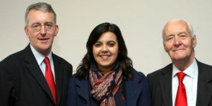 Emily Benn, a PPC again, with her political dynasty, uncle Hilary, left, and her late grandfather, Tony Benn