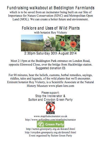 Beddington Farmlands fund-raiser walk