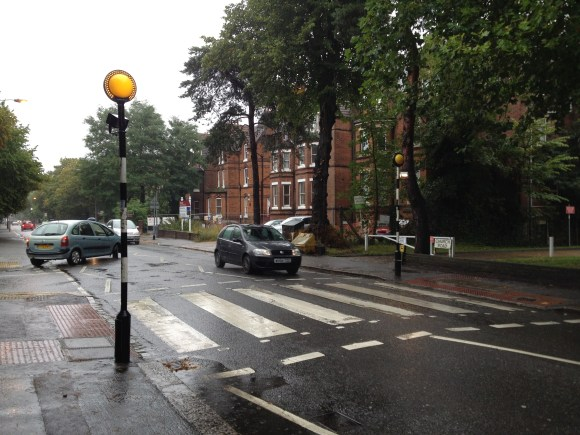 Church Road's full operational pedestrian crossing - a rare sight on this busy road