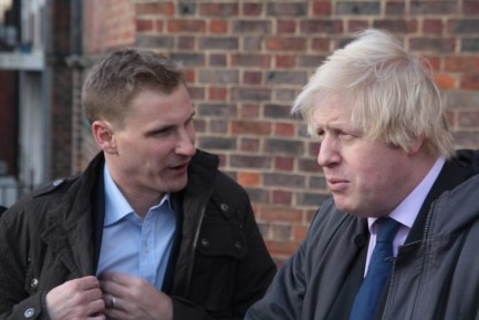 """Seriously, Boris. I think I'm a bigger narcissicist event than you"". Philp, left, with the Mayor of London"
