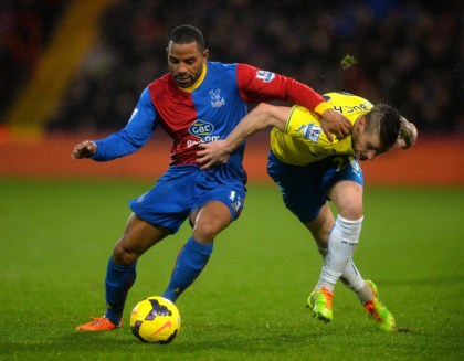 Packing a Puncheon: the Palace midfielder has become a marked man because of his good form
