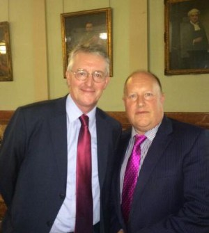 And the point is? Council leader Tony Newman took time out from chairing last night's cabinet meeting to have his picture taken with Uncle Hilary Benn