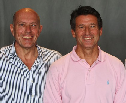 Steve Ovett and Seb Coe as they are today