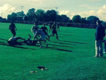 The crowd was two or three deep around the pitch in the weak autumn sunshine as Whitgift took on John Fisher last week