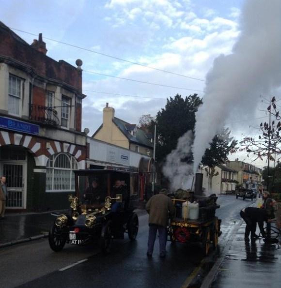 veteran car run steam engine