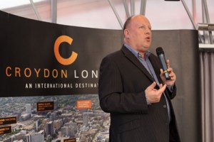 Tony Newman: Woodside councillor and Labour leader, has offered little hope to his residents over the Arena Academy entertains the Develop Croydon audience with his version of My Way - more Vicious than Sinatra