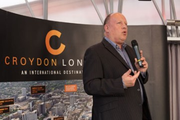 Tony Newman entertains the Develop Croydon audience with his version of My Way - more Vicious than Sinatra