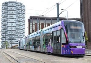 Tramlink tram at East Croydon