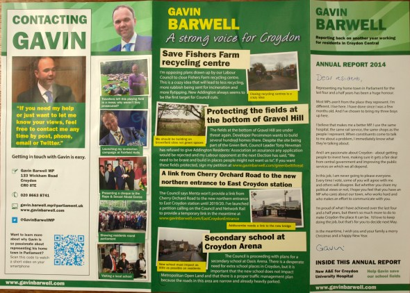 Find the reference to the Conservatives... A party political leaflet without the party