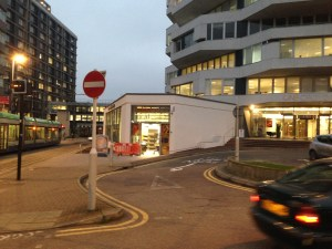 Handy for the trams: the new Sainsbury's Local at No1 Croydon