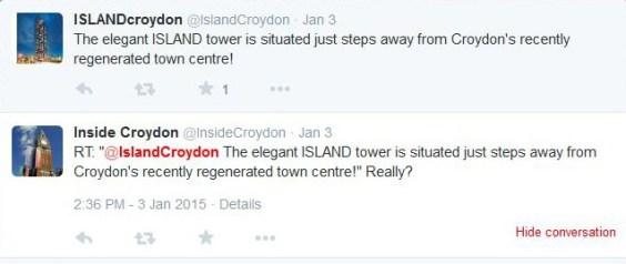IslandCroydon dodgy tweet