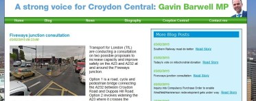 How the MP for Croydon Central was quickly in to endorse building roads through homes and a park in Croydon South