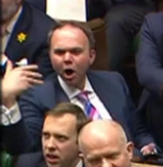 Tory Gavin Barwell in parliament: he's trying to make himself seem as if he is not a politician. And very convincingly