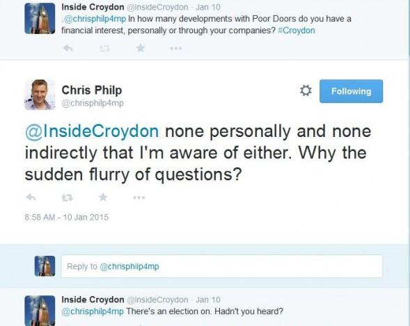 Philp Poor Doors Tweet