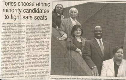 In the past, Croydon Tories selected BME candidates in winnable seats