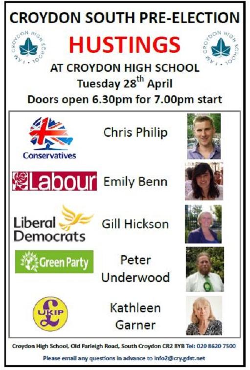 Croydon High hustings