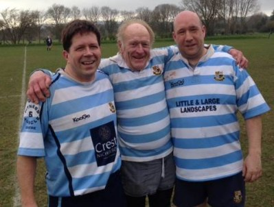 The Warlingham 4s front row: Steve Gauge, Ron Head MBE and John Waghorn