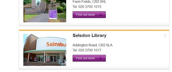 Such is the status of libraries in our borough, Selsdon Library is now a branch of Sainsbury's, according to Croydon Council's own website