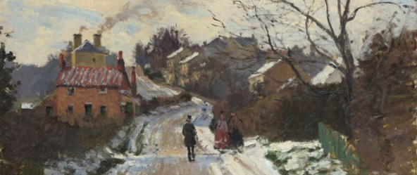 This work by Pissarro - Fox Hill, Upper Norwood, is from the National Gallery collection, part of an extensive range of the artist's work portraying the area as it was in the late 19th Century