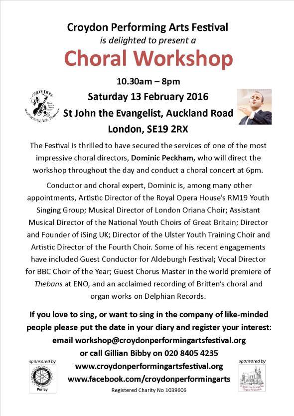 choral workshop publicity