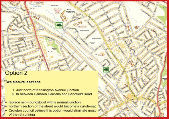 Norbury Avenue map