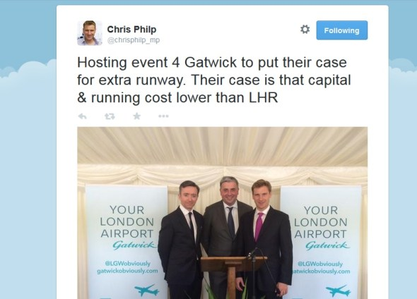Croydon South's new MP, Chris Philp, seems to pre-judge the outcome of the Davies Report, and consign Croydon to worsening air quality