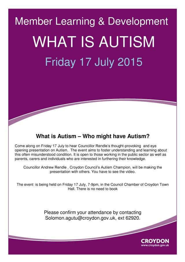 autism flyer