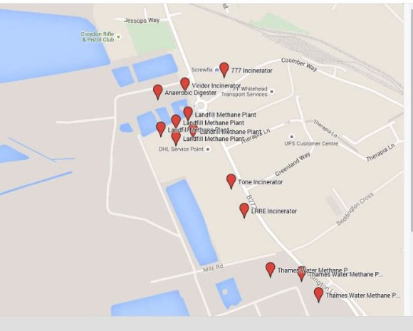 The Beddington Lane Extra High Emissions Zone: Sutton Council has granted permission for the Viridor incinerator and 11 other incinerators in this small area
