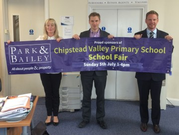 Chris Philp, MP for Croydon South, fighting for the rights of local estate agents: what's happened to the school fair banner?