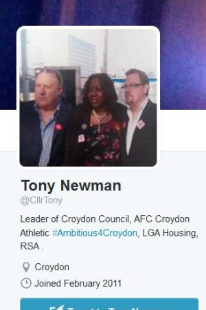 Hey presto... as if by magic, Newman's folksy Twitter profile is corrected. But where's mention of the club he really supports?