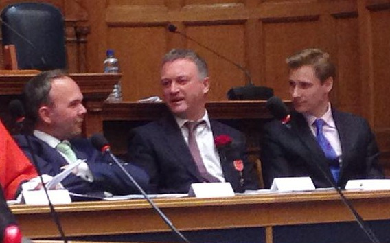 Spot the Tory: Croydon's MPs, from left, Gavin Barwell, Steve Reed OBE and Chris Philp