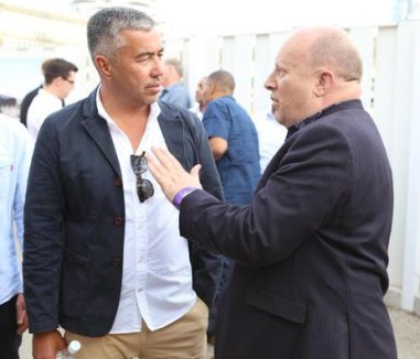 """Croydon Council leader Tony Newman in discussion with Boxpark's Roger wade last night: """"So, after that £3m loan from the council, is there a discount on burgers on our way back from watching Fulham?"""""""