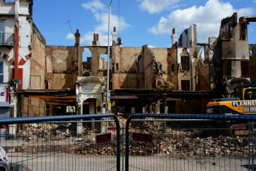 Only recently has work begun on the Rooyal Mansions site, after delays caused by the London Mayor's office