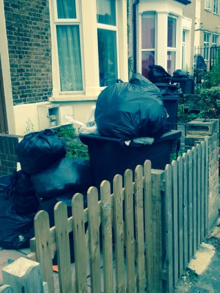 How the rubbish was allowed to pile up outside people's homes in Bensham Grove, Thornton Heath over the course of three weeks