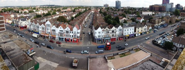 London Road as it looks today. Progress to repair the riots damage has been far too slow