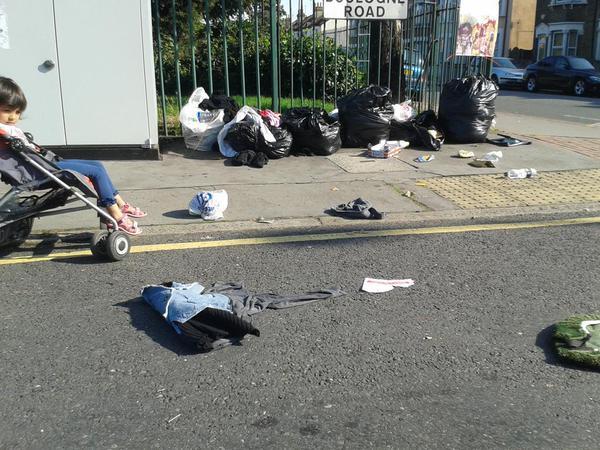 Boulogne Road, Croydon, last week. Nice