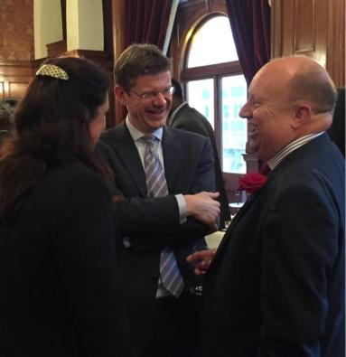 Local Government minister Greg Clark on a visit to Croydon earlier this year. Was he laughing with Tony Newman, or at him?