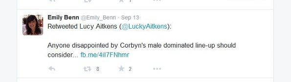 Benn on Twitter