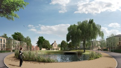 An artist's impression of how Cane Hill might lok when Barratt's finish building it. They have not provided for a school