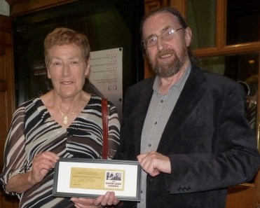 Bridget Cushen receives the David Lean Cinema golden ticket from Alan