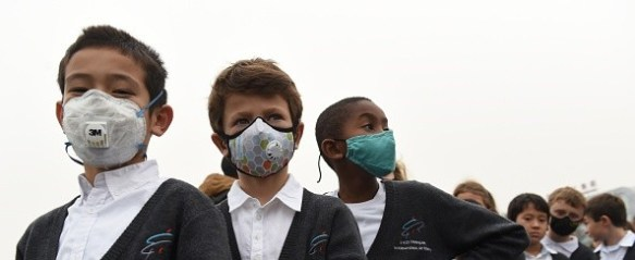Pollution masks Purley Way school